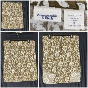 Abercrombie & Fitch Brown/White Flower A-Line